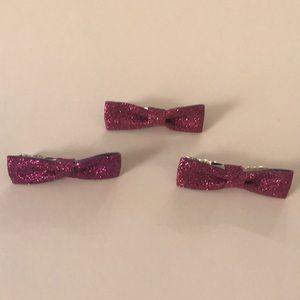 NWOT Forever 21 Glitter Bow Clip